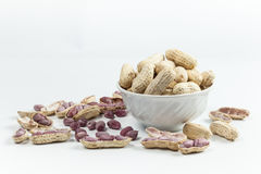 Gekochte Erdnüsse Lizenzfreie Stockfotos