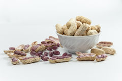 Gekochte Erdnüsse Lizenzfreies Stockbild