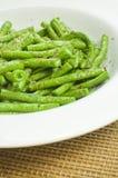 Gekochte grüne Bohnen Stockfotografie