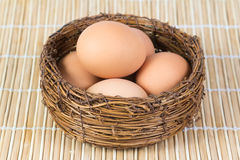 Gekochte Hühnereien lizenzfreies stockbild