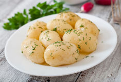 Gekochte Kartoffeln lizenzfreies stockfoto