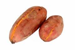 Gekochte s??e Kartoffeln stockfoto