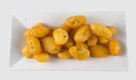 Gekochte und gebratene Kartoffeln Lizenzfreie Stockfotografie