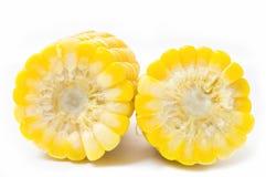 Gekochter Mais lokalisiert auf Weiß Lizenzfreie Stockfotografie