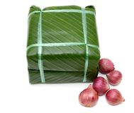 Gekochter quadratischer Klebreiskuchen, vietnamesisches Lebensmittel des neuen Jahres Lizenzfreie Stockbilder