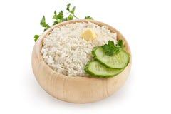 Gekochter Reis in der Platte Lizenzfreie Stockfotografie