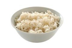 Gekochter Reis in einer Schüssel Stockfotos