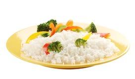 Gekochter Reis mit Gemüse Lizenzfreie Stockbilder