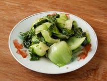 Gekochtes chinesisches Gemüse-bok choy stockfoto
