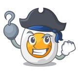 Gekochtes Ei des Piraten Karikatur geschnitten zum Frühstück lizenzfreie abbildung