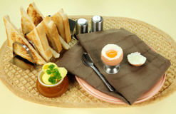 Gekochtes Ei-Frühstück lizenzfreies stockbild