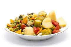 Gekochtes Eintopfgericht-Gemüse lizenzfreie stockfotos