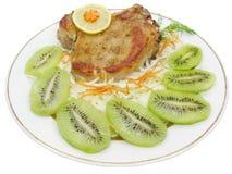 Gekochtes Fleisch mit Gemüse lizenzfreies stockfoto