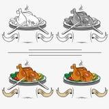 Gekochtes Huhn auf dem Grill Stockbilder