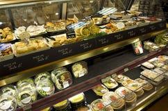 Gekochtes Nahrungsmittelsalatsandwich Stockfotografie