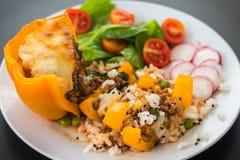 Gekochtes peppar mit Fleisch und Gemüse Lizenzfreies Stockfoto
