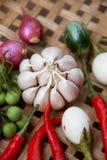 Gekochtes thailändisches Lebensmittel des Gemüses Lizenzfreies Stockbild