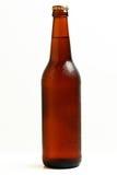 Gekoelde fles bier. stock afbeelding