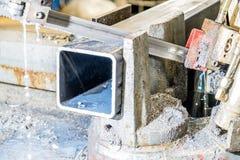 Gekoelde het water zag scherp staal Stock Foto's