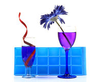 Gekoelde partijdranken stock afbeeldingen