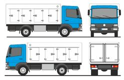 Gekoelde vrachtwagen Royalty-vrije Stock Afbeeldingen