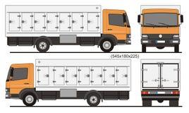 Gekoelde Vrachtwagen 7 zijdeuren Royalty-vrije Stock Foto
