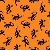gekonu bezszwowy deseniowy Fotografia Royalty Free