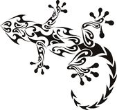 gekonu tatuaż Fotografia Royalty Free