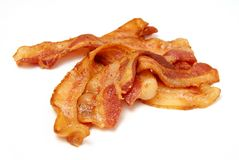 Gekookt Bacon royalty-vrije stock fotografie