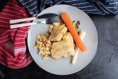 Gekookt kippenvlees stock foto