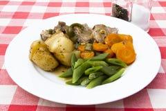 Gekookt lendestuk van varkensvlees royalty-vrije stock foto's