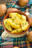 Gekookt potatoe royalty-vrije stock fotografie