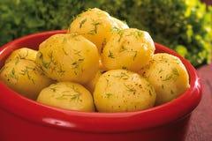 Gekookte aardappels Stock Fotografie