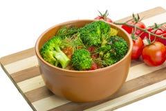 Gekookte Brokoli stock foto's