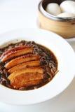 Gekookte Chinese het voedselstijl van het buikvarkensvlees Royalty-vrije Stock Afbeeldingen