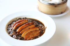 Gekookte Chinese het voedselstijl van het buikvarkensvlees Stock Afbeeldingen