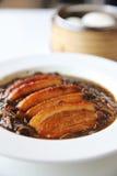 Gekookte Chinese het voedselstijl van het buikvarkensvlees Royalty-vrije Stock Foto