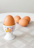 Gekookte eieren Stock Foto's