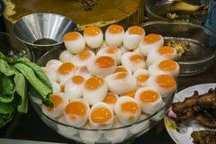 Gekookte eieren Royalty-vrije Stock Foto's