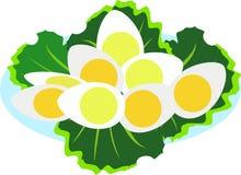 Gekookte eieren op een plaat vector illustratie