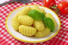Gekookte gnocchi Royalty-vrije Stock Afbeeldingen