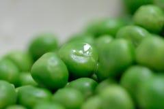 Gekookte groene erwten Royalty-vrije Stock Afbeelding