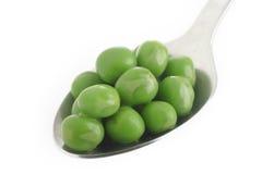 Gekookte groene erwten Stock Foto's