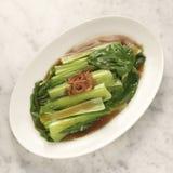 Gekookte groente in oestersaus Stock Foto's
