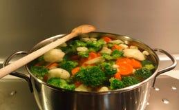 Gekookte groenten royalty-vrije stock afbeelding