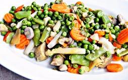 Gekookte groenten Royalty-vrije Stock Foto's