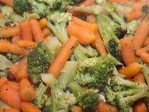 Gekookte groenten Stock Foto's