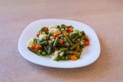 Gekookte groenten Royalty-vrije Stock Afbeeldingen