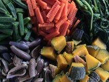 Gekookte groenten Stock Fotografie