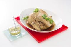 Gekookte kip Chinese keukenstijl Het Chinese voedsel van het Nieuwjaar Royalty-vrije Stock Afbeelding